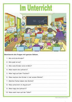 Bildbeschreibung - Im Unterricht