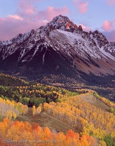 Sneffels at sunset in autumn, Mt. Colorado Hiking, Colorado Rockies, Autumn Nature, Wild Nature, Rivers And Roads, San Juan Mountains, Scenic Photography, Photography Tips, Landscape Photos