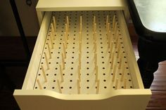 Let's get organized!, Thread spool and bobbin organizer, pegboard, Alex from Ikea