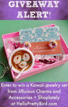 Love adorable jewelry? Check out this awesome #giveaway hosted by HelloPrettyBird.com and #ShopLately! Promotion ends 11:59PM ET, October 30th, 2014. http://www.helloprettybird.com/2014/10/cooking-up-kawaii-treats-with.html