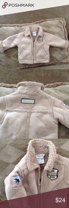 Boyz Faux Suede Jacket Adorable little boys jacket . Shearling look inside. So cute Boyz Jackets & Coats Pea Coats