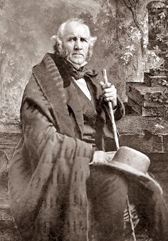 Sam Houston (1793-1863) by Matthew Brady. Houston was a remarkable man for his time and place. He refused to swear allegiance to The Confederate States of America. He lived with the Cherokees for many years. He voted against the expansion of slavery into new states. He was the first President of Texas and a vehement opponent of Secession. These all make him practically a pinko Commie radical for that time. The Republic, Republic Of Texas, American Civil War, American History, World History, Texas History, Confederate States Of America, Interesting History, Old Pictures