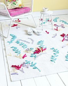 Embroidered Rugs :: DIY Pattern