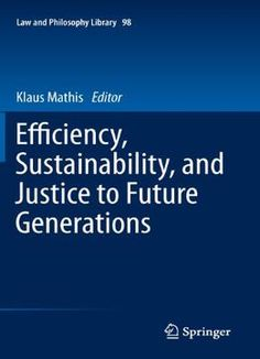Efficiency Sustainability And Justice To Future Generations PDF