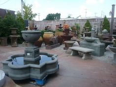 Lots of fountains, pots and planters to choose from at Palladio Garden
