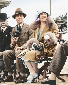 Devoted couple: The Duke and Duchess of York, later King George VI and Queen Elizabeth, pictured in 1927.