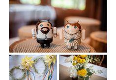 Wellers Weddings, Saline Weddings, Rustic Weddings, Outdoor Weddings, Historic Weddings, Champagne, Yellow, Android, Cake topper