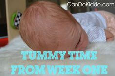 Everyone says DO TUMMY TIME! but no one tells you HOW exactly do that with a newborn. Learn a Tummy Time Hack to keep a belly-down baby happy!  CanDo Kiddo