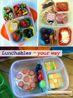 Make Lunchables yourself using EasyLunchboxes compartmentalized containers. Kid-pleasing, mom-approved