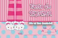 convite festa do pijama - Pesquisa Google