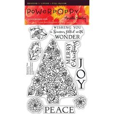 Power Poppy BOTANICAL TREE Clear Stamp Set PPOCT1502