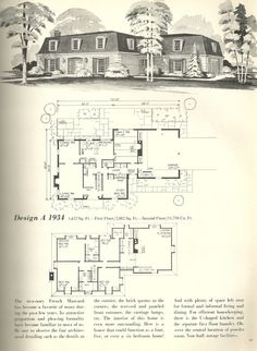 Mansard style house probably dating from 1970s the oval for French mansard house plans