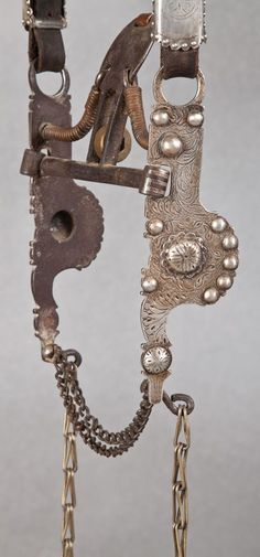 Early California Silver Mounted Bridle with Spade Bit