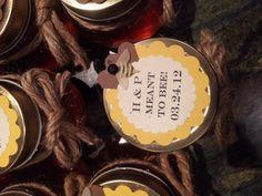 Handmade honey jar wedding favors