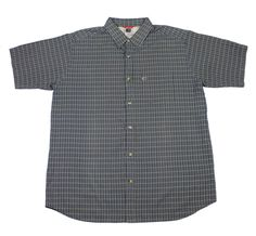 The North Face Plaid Button Up Shirt in Blue/Green Mens Size XL