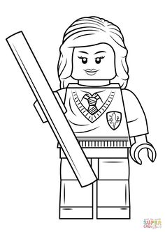 Image result for lego characters color page hermione