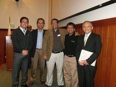 Juan José Miranda Director de proyectos en @magiadigital junto al jurado del @AppCircus Lima 2012