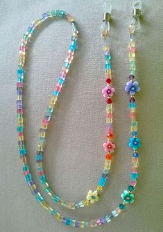 Rainbow Crstals and Flowers Eyeglass Chain Handmade by (Accessories Eyewear rainbow eyeglass chain eyeglass chain eyeglass holder flower Beaded Earrings, Beaded Jewelry, Handmade Jewelry, Beaded Bracelets, Necklaces, Beaded Lanyards, Eyeglass Holder, Schmuck Design, Jewelry Crafts