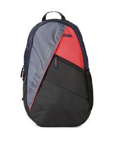 Buy Flying Machine Men Black   Red Colourblocked Backpack - Backpacks for  Men  2ad9c69ae7584