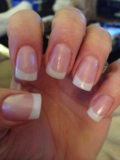 Full sculpted gel nails French Manicure Nails, French Tip Nails, Fingernail Designs, Acrylic Nail Designs, Get Nails, How To Do Nails, Pink White Nails, Sculpted Gel Nails, Uñas Diy