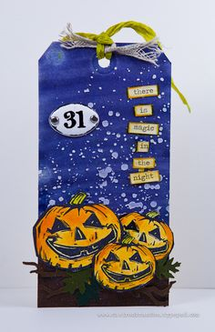 Magic in the night by Cheiron Brandon for the Simon Says Stamp Wednesday challenge (Tag It) Stamptember 2014