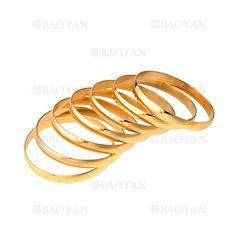 7 piezas pulseras de dorado en acero inoxidable para mujer- SSBTG054404