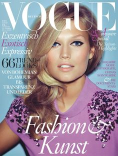 Toni Garrn Dons Bottega Veneta for Vogue Germanys August 2012 Cover