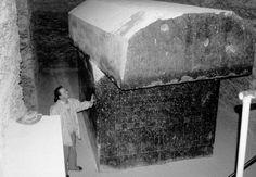 Huge sarcophagus of Apis, sacred bull, Serapeum, Saqqara