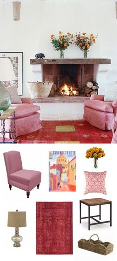 pink rustic living room | #adoredecor #homedecor #interiordesign #decor #design #valentinesday