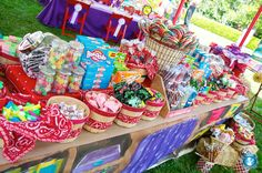 love the ida of building your own party favors  We could use our play grocery store as a scaled down version of this