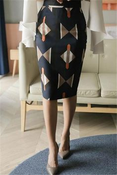Casual Geometric Patterned Shown thin Half length Skirt – streetstyletrends   skirt ideas jeans skirt outfit how to wear skirt #skirtoutfits#howtostyleskirts#casualsummerskirt#skirtsinfall#skirtspring