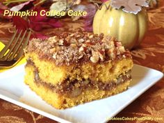 Pumpkin Coffee Cake...added 1 tsp baking powder. It was meh.