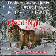 Good Night, Praying you and your family have a Blessed Night Full of Wonderful Peace! Good Night Everyone, Good Night Friends, Good Night Wishes, Good Night Sweet Dreams, Have A Good Night, Good Night Image, Good Morning Good Night, Morning Light, Good Night Greetings