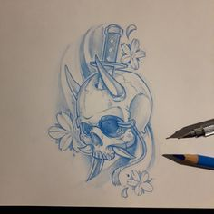 Morning sketch  #ozer #tatouage #tattoo #graffiti #loveletters #ironink #nantes #westcotedeporc #japanese #skull