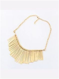 Gold/Silver Modern Tassel Alloy Necklace