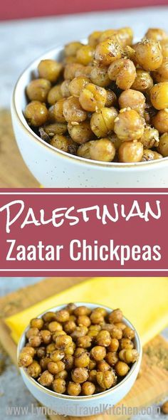 Learn how to make this Middle Eastern Snack, Roasted Chickpeas from Palestine. This Palestinian recipe uses Middle Eastern zaatar as a spice. Learn more at www.lyndsaystravelkitchen.com