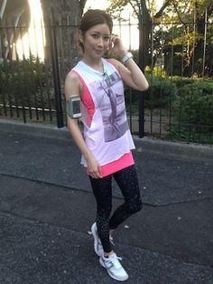 森絵里香 JTBマウイマラソンに向けて #anecan #run #running #cordinates #ootd #outfits #森絵里香 #erikamori