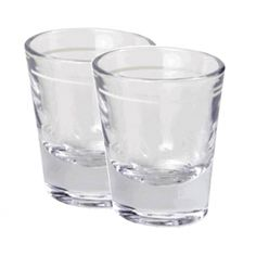 Heavy Shot Glasses with Line 1.25 oz - Set of 2 $8