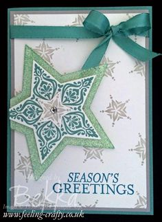 Christmas Card with the Bright and Beautiful Stamp Set from Stampin' Up!