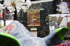Vernissage de Skunk Dog à l'atelier d'artiste du New Hotel