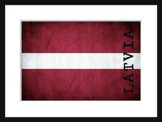 Latvia Flag  Print Poster  by davidsphotography on Etsy