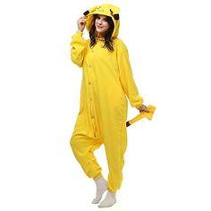 0f389e6fcf Pokemon Go Cute Pikachu For Adult Men Women Fleece Pajamas Cosplay Unisex Cosplay  Onesie Sleepwear