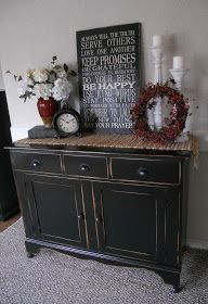 I love a simple makeover and black looks good on almost anything.  Nuff said. :)         Before                  After         I just got r...