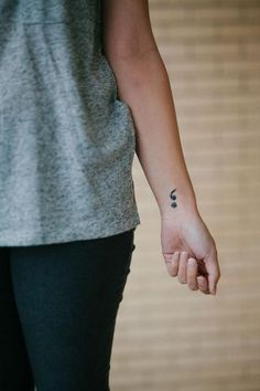 myTaT project semicolon temporary tattoo