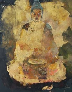 Buddha Art (Galia Alena)***the vagueness in the body of this beauty intrigues me.it emphasizes how each of us fills Life & its purpose, differently. Art Buddha, Buddha Kunst, Yoga Kunst, Figurative Kunst, Buddhist Meditation, Walking Meditation, Yoga Art, Art Moderne, Artwork
