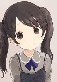 anime girl with short black hair and glasses Loli Kawaii, Kawaii Chibi, Kawaii Anime Girl, Anime Oc, Manga Anime, Cute Anime Character, Character Art, Kawaii Illustration, Anime Child
