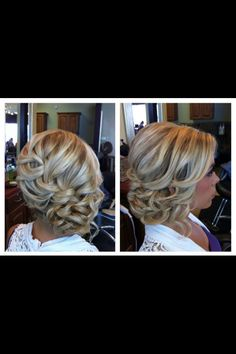 Formal hair, this but half up half down to the side