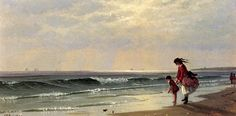 alfred thompson bricher art | At the Shore, 1871Bricher, Alfred ThompsonPainting Reproductions