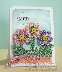 Scrapping Mommy : Faith Flower Card by mommy2darlings, via Flickr