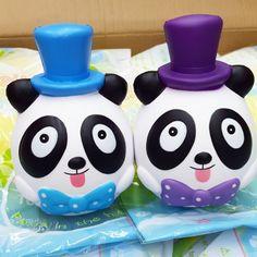 Lei Lei Top Hat fat and rich Panda tuxedo squishy